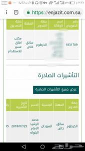 استقدام من السودان سايق خاص راعي محاسب ووو