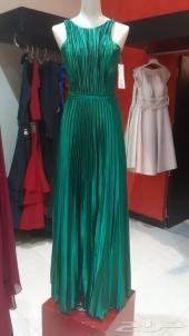 فستان سهره جديد لم يستخدم أخضر علمي