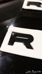 كتابة رنج روفر RANGE ROVER 2014  اسود و فضي