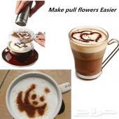 لعشاق القهوة قوالب الرسم ع القهوة والكابتشينو