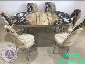 طاولةطعام6كراسي زجاج جديدبالكرتون تركية