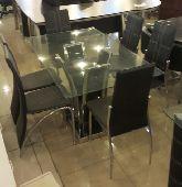 طاولات 6 كراسي زجاج مقاوم للحرارة