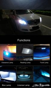 لمبات LED ابيض قوية لجميع السيارات