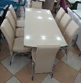 طاولات طعام تركية خامة ممتازة n8كراسي ملكية