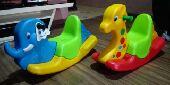 هدية عيد العاب اطفال كرسي هزاز زرافة فيل سمكة