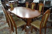 طاولة خشب ماليزي 8كراسي جديد بالكرتون