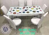 طاولة طعام 6كراسي صناعة تركية بتتكبر وبتتصغر