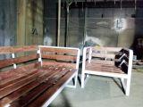 جلسات خارجيه حديد ملبسه خشب