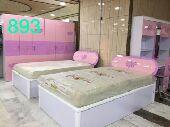 متوفر غرف نوم للاطفال سرير مفرد وسريرين