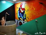 تركيب ورق جدران بسعر رخيص دهان معلم فني دهانا