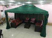 خيمة جديده بالكرتون والشكل الجديد قماش ممتاز
