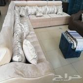 كنب جديد جاهز 7 أشخاص وحرف L الرياض
