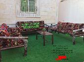 جلسة تراثية شعبية خارجية حديقة كرسي حديد خشب