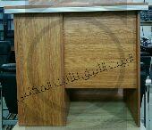مكتب خشبي مع ادراج nجديد بالكرتون