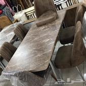 طاولات سفرة خشب فخمة مع كراسي شمواه