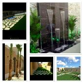 تنسيق الحدائق وتيل طبيعى وعشب صناعي