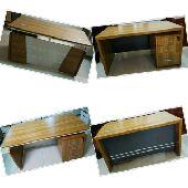 مكاتب خشب مع ادراج وسكرتاريا جديد بالكرتون