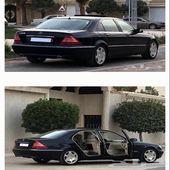 مرسيدس سعودي موديل 2003 اللون اسود نظيف مجدد