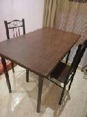 طاولة طعام مع كرسي عدد 2