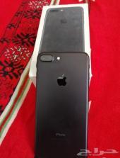 ايفون 7بلس 128قيقا اللون اسود نظيف جدا