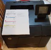 طابعة ليزر ملونة hp pro واي فاي بشاشة لمس