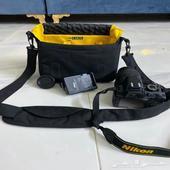 كاميرا نيكون Nikon d3100 نظيفة   عدسة 70-300 مانع اهزاز