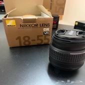كاميرا نيكون d3300 مع عدستها   فلاش