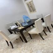 طاولة طعام   كنب  وبعض الاثاث