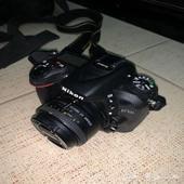 كاميرا نيكون 7100D شبه جديده بلمعتها