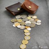 محفظة عملات معدنية جلد طبيعي