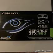 كرت شاشه GTX 960 4GB للبيع