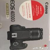 كاميرا كانون D4000 جديده لم تستعمل غير مره فقط