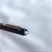 قلم مون بلان كحلي مع ذهبي فاخر