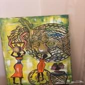 لوحة تعبر التراث الافريقي