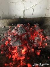 فحم طبيعي وحطب سمر يابس