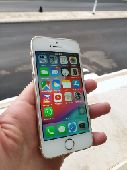 ايفون 5s لون أبيض و ذهبي 16 قيقا