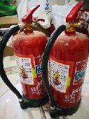 عدد 2 طفايات حريق 6 كيلو جديدة لم تستخدم