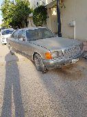 اعلان عن بيع سيارة مرسيدس قديمة