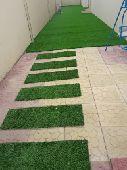 العشب الصناعي والجداري والشلالات