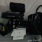 كاميرا نيكون d90 nikon مع جميع ادواتها   موبايلي نت مفتوح