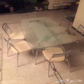 طاولة قزاز طاولة زجاج