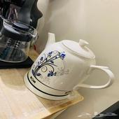 تحفة وغلاية ماء من الخزف جميله وانيقه لركن القهوة
