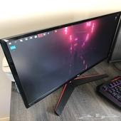 شاشة قيمنق ال جي monitor gaming LG