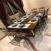 طاولة طعام 10 كراسي