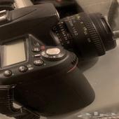 كاميرا نيكون D90 مع 3 عدسات وشنطه وستاند وعدة تنظيف