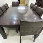 طاولة طعام وكراسي لثمان اشخاص التواصل واتس اب 0507389188