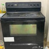 مطبخ وفرن جبسن امريكي كهربائي ومكيف جري واحد