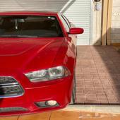دودج تشارجر 2012 احمر ناري SXR السيارة شد بلد