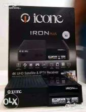 رسيفر الاكثر طلبا ومبيعا ICONE IRON PLUS 4K