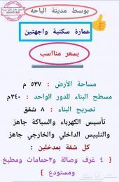 للبيع موقع سكني بوسط مدينة الباحة